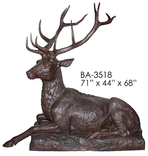 Bronze Deer Buck Statues - ASI BA-3518