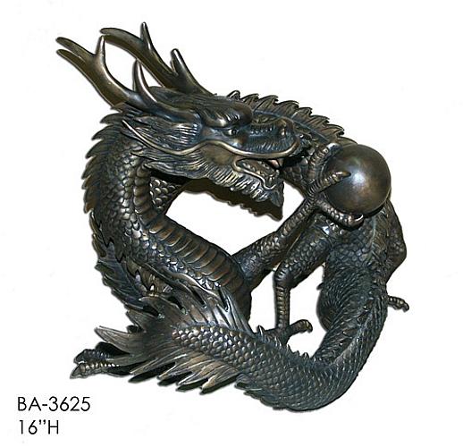 Bronze Dragon Statue - ASI BA-3625