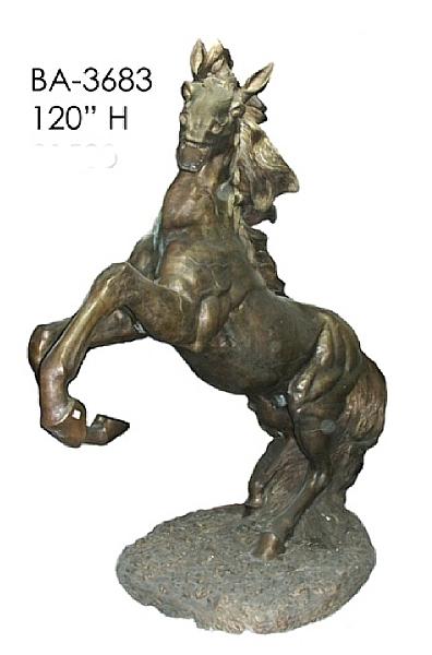 Bronze Rearing Horse Statue - ASI BA-3683