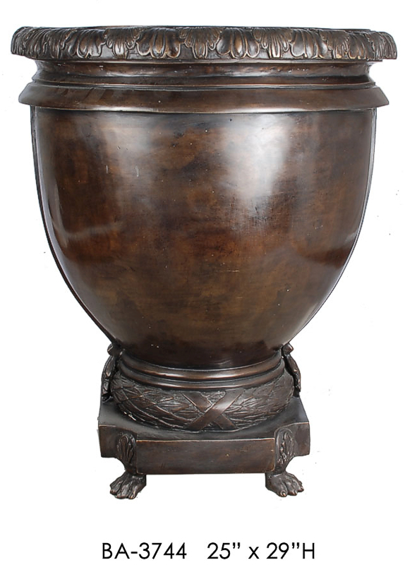 Bronze Smooth and Plain Footed Urn - ASI BA-3744