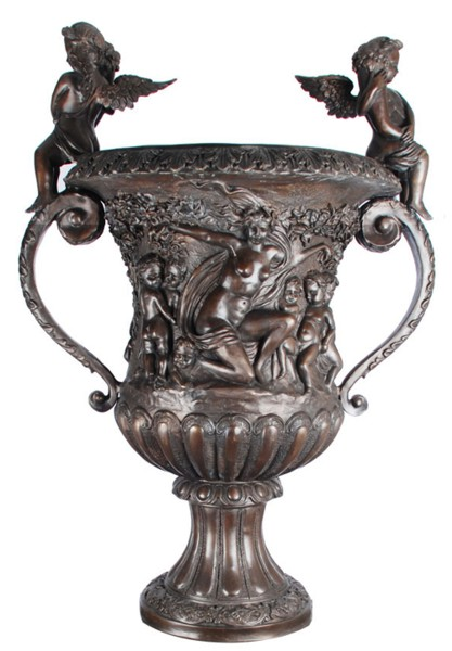 Bronze Urn with Cupid Handles - ASI BA-3912U