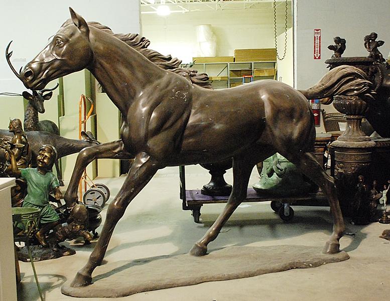 Bronze Galloping Horse Statue - ASI BA-6197C