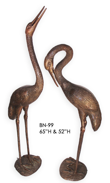 Bronze Crane Fountain/Statue - ASI BN-99