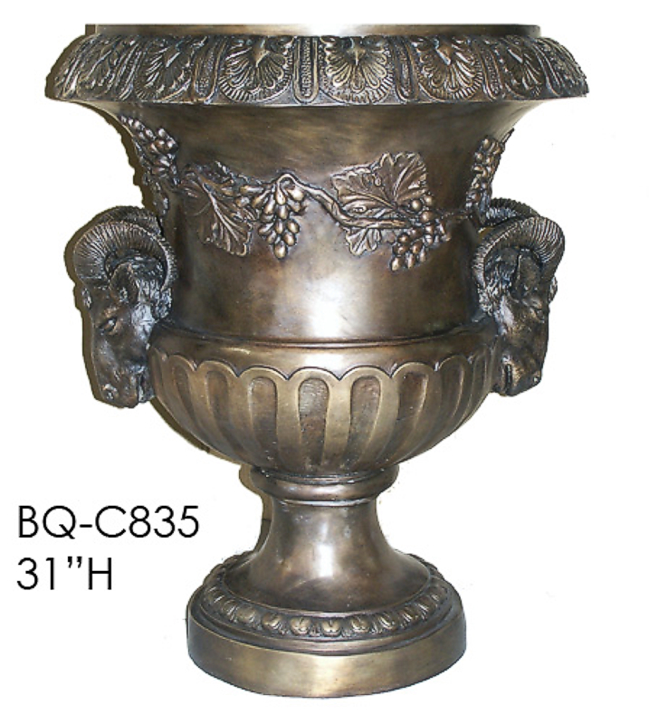 Bronze Rams Head Urn - ASI BQ-C835