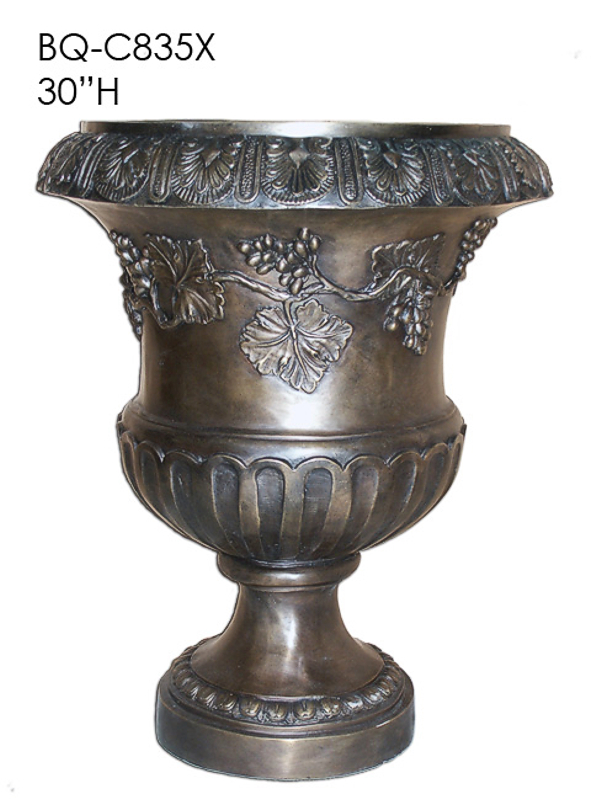 Bronze Urn with Grapevine Design - ASI BQ-C835X