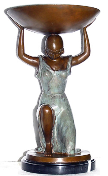 Bronze Lady Holding Urn - ASI BQ-D200