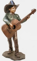 Bronze Cowboy Playing Guitar - AF 57072