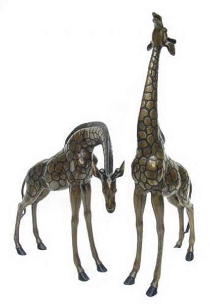 Bronze Giraffe & Calf Statues - DK 1251