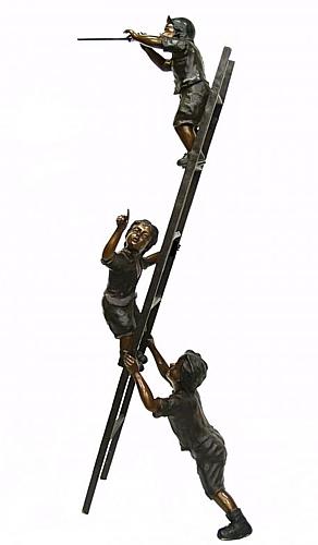 Bronze Children Statues - DK 1688
