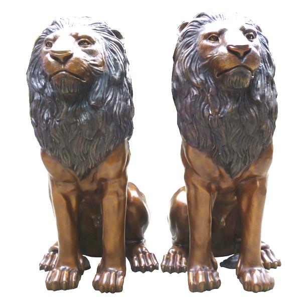 Bronze Lion Statues - DK 2054