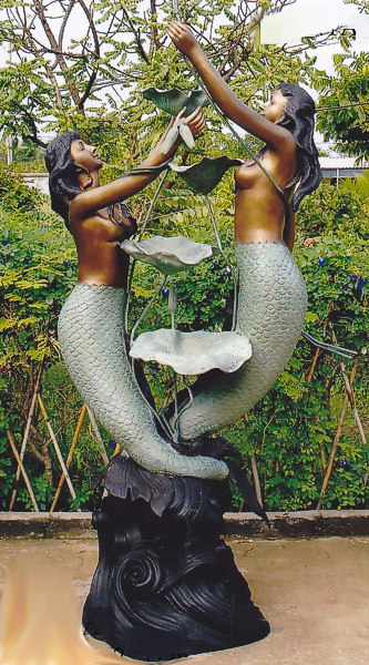 Bronze Mermaid Fountains | Bronze Mermaid Statues - DK 1279A