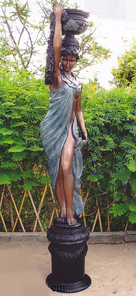 Bronze Lady Urn Statue - DK 1285A-1