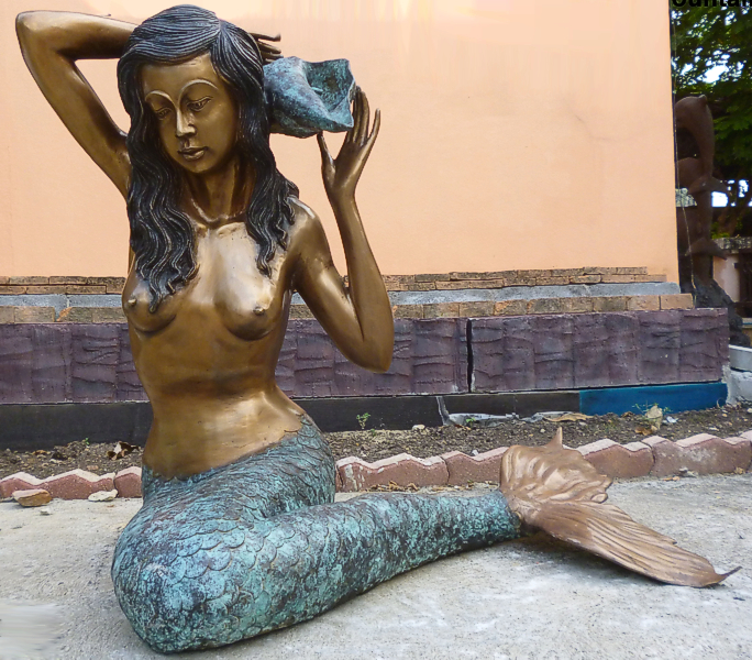 Bronze Mermaid Fountains | Bronze Mermaid Statues - DK 1302A