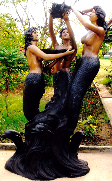 Bronze Mermaid Fountains | Bronze Mermaid Statues - DK 1307A