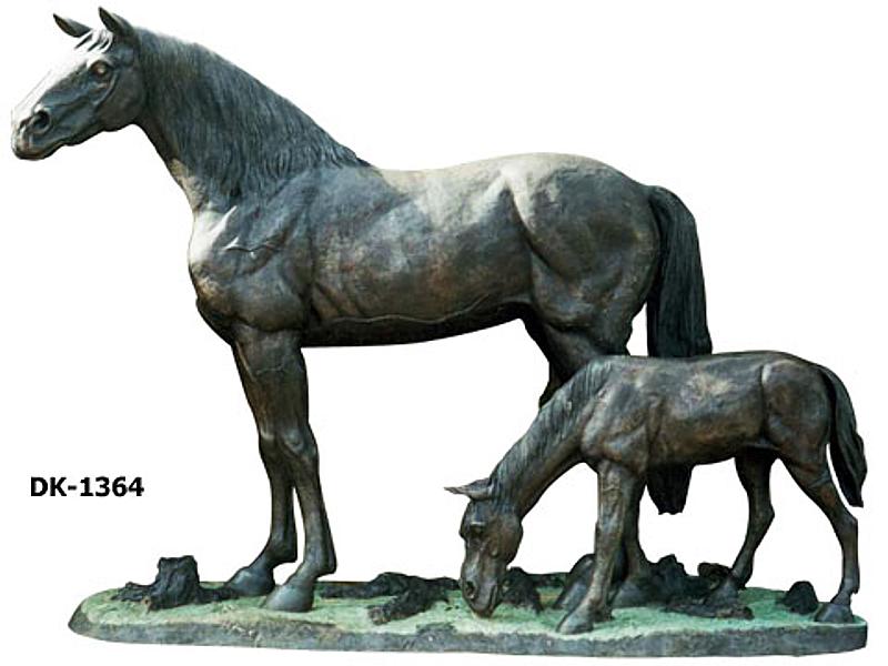 Bronze Horse Statues - DK 1364