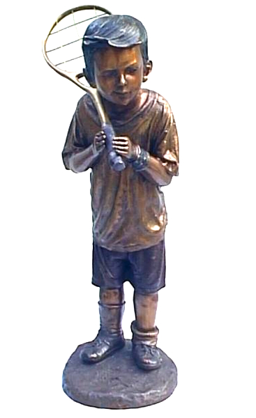 Bronze Boy Tennis Player Statue - DK 1661