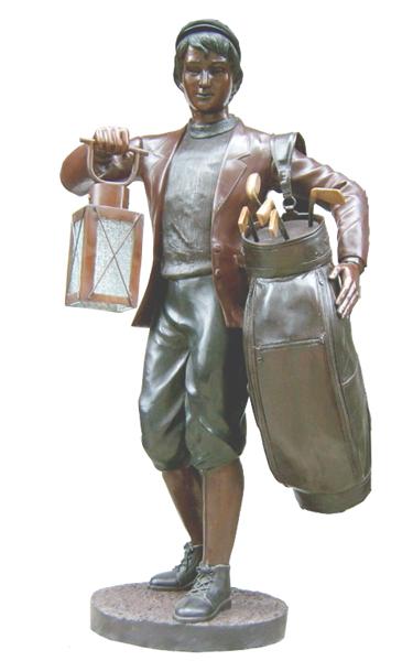 Bronze Boy Caddy Statue - DK 1728