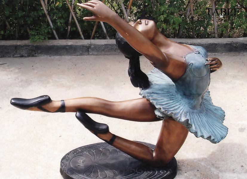 Bronze Ballerina Table - DK 1757A