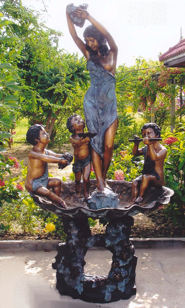 Bronze Lady with Children Fountain - DK 1760A