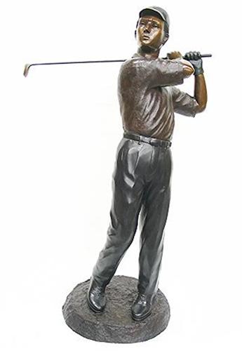 Golfer Hitting Driver Statue
