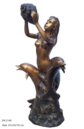 Bronze Mermaid Fountains | Bronze Mermaid Statues - DK 2149