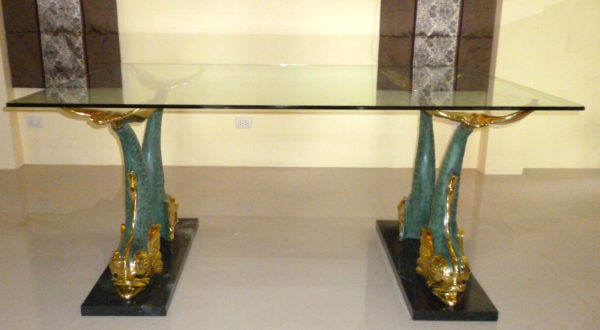Bronze Fish Dining Room Table