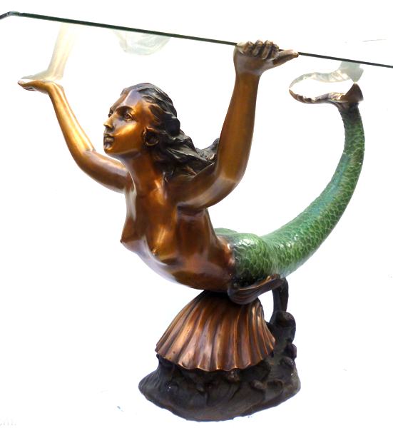 Bronze Mermaid Table Base - DK 2299