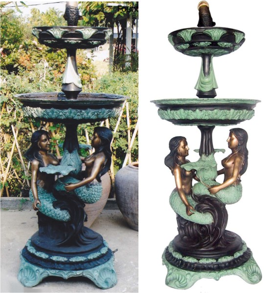 Bronze Mermaid Fountains | Bronze Mermaid Statues - DK 2307