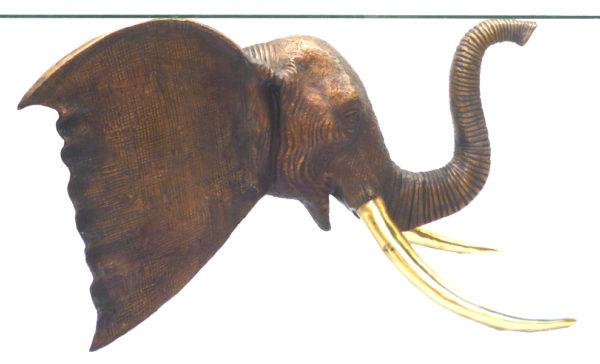 Bronze Elephant Table