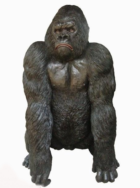 Bronze Gorilla Statue - DK 2466