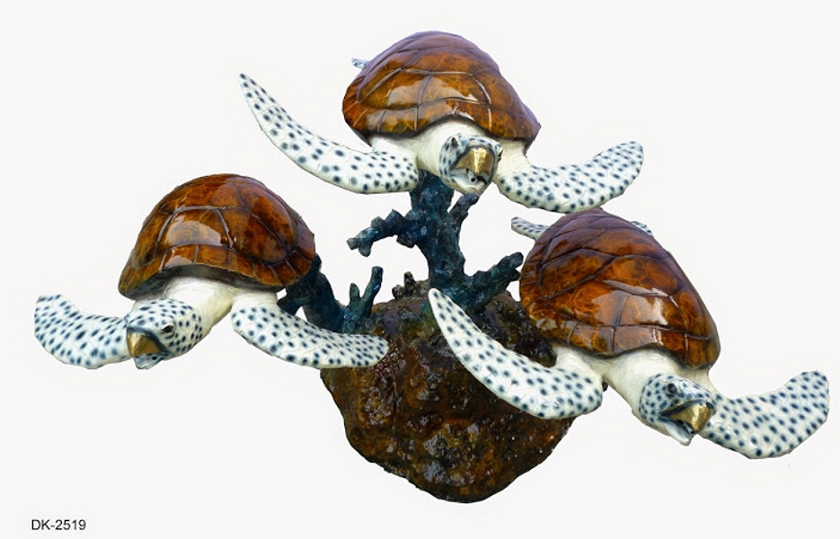 Bronze Turtle Fountain - DK 2519