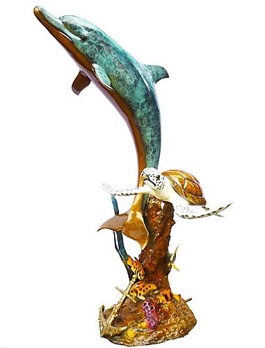Bronze Dolphin Fountains - DK 2536