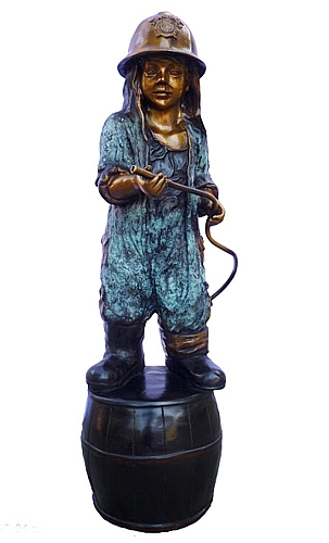 Bronze Fire Girl Fountain - DK 2580