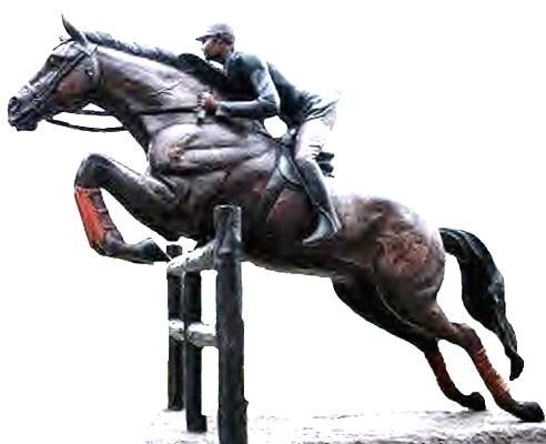 Bronze Steeplechase Horse Statues - DK 2625