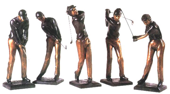 Bronze Golfer Statue - DD E-045