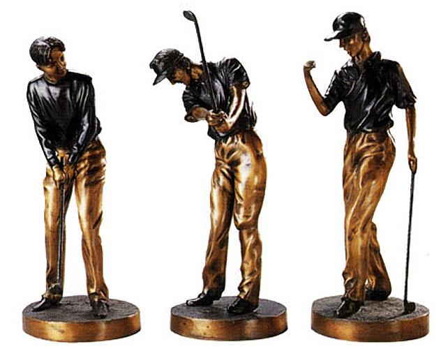 Bronze Golfer Statue - DD E-046