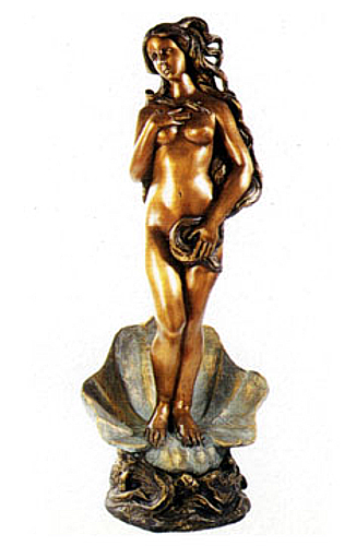 Bronze Naked Lady Shell Statue - DD F-002S