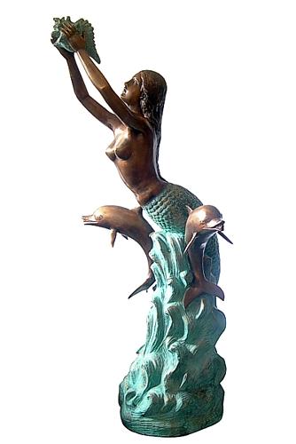 Bronze Mermaid Statues - DD F-023-S