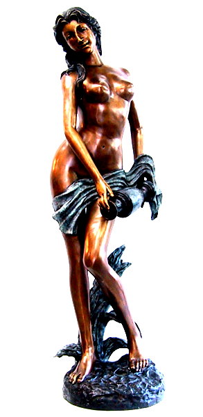 Bronze Nude Lady Fountain - DD F-038