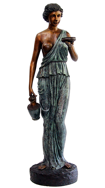 Bronze Lady Urn Fountain - DD F-039