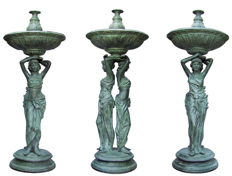 Bronze Ladies Tier Fountain - DD F-067