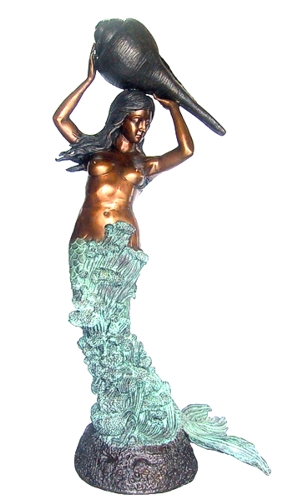 Bronze Mermaid Statue - DD F-098