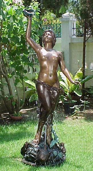 Bronze Nude & Shell Fountain - PA F-1001