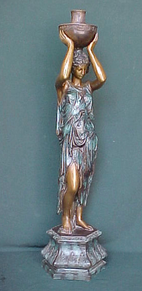 Bronze Lady Urn Fountain - PA F-1003