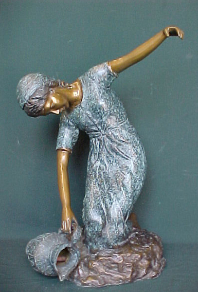Bronze Lady with Urn Fountain - PA F-1009