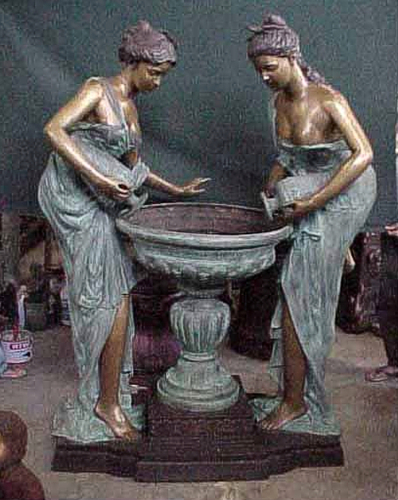 Bronze Classical Ladies Fountain - PA F-1014