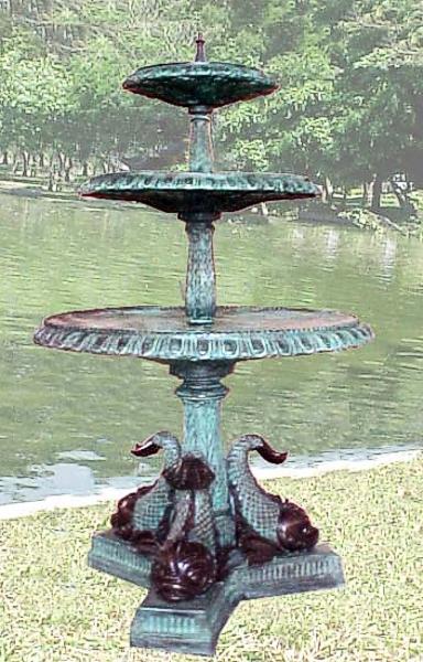 Bronze Fish Tier Fountain - PA F-1025