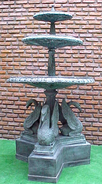Bronze Swan Tiered Fountain - PA F-1025A