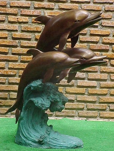 Bronze Dolphin Fountains