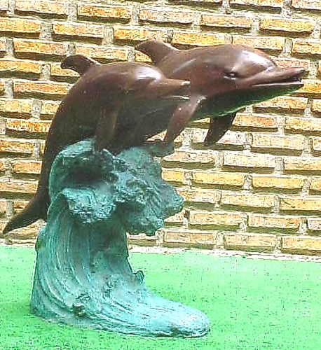 Bronze Dolphin Fountains - PA F-1037